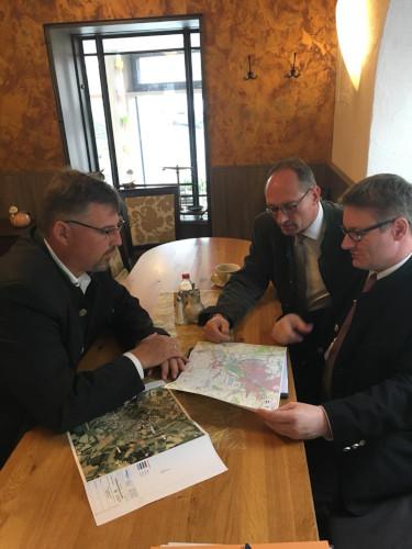 Landrat Löwl, MdL Seidenath, Staatssekretär Zellmeier